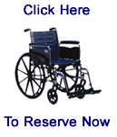 Wheel chair reservation photo.